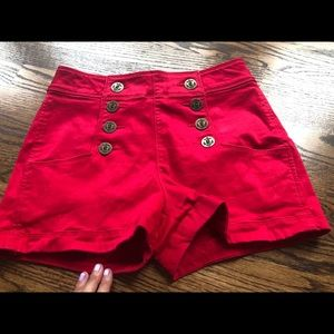 Adorable red Express shorts ❗️EUC, Owen once!
